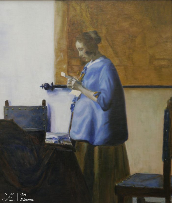Afer Vermeer 1633 (Rijksmuseum reference copyright) 45x39cm