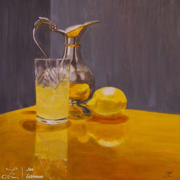 'Lemonade'  oil on board